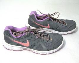 NIKE REVOLUTION 2 Women's Gray & Purple Running Shoes Size 10.5 Fitness ... - $12.95