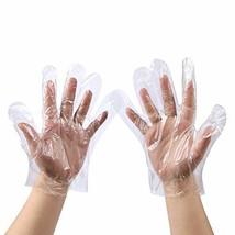 500 PCS Plastic Disposable Gloves, Transparent, One Size Fits Most,by Brandon-su
