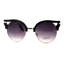 Designer Round Cateye Fashion Sunglasses For Women Unique Wing Top - $9.95