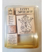 Stampin' Up! 2001 PARTY TIME Wood Rubber Stamp Set  - $14.80
