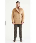 North & Mark Men S Stewart StormLux Wool Cashmere Peacoat Camel Coat Wat... - $346.50