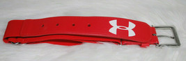 Under Armour Youth Boys Baseball Sports Belt Red White Logo Adjustable NEW - $14.80
