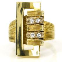 Women's Diamond Modern Buckle Ring in 18k Yellow Gold - $940.80