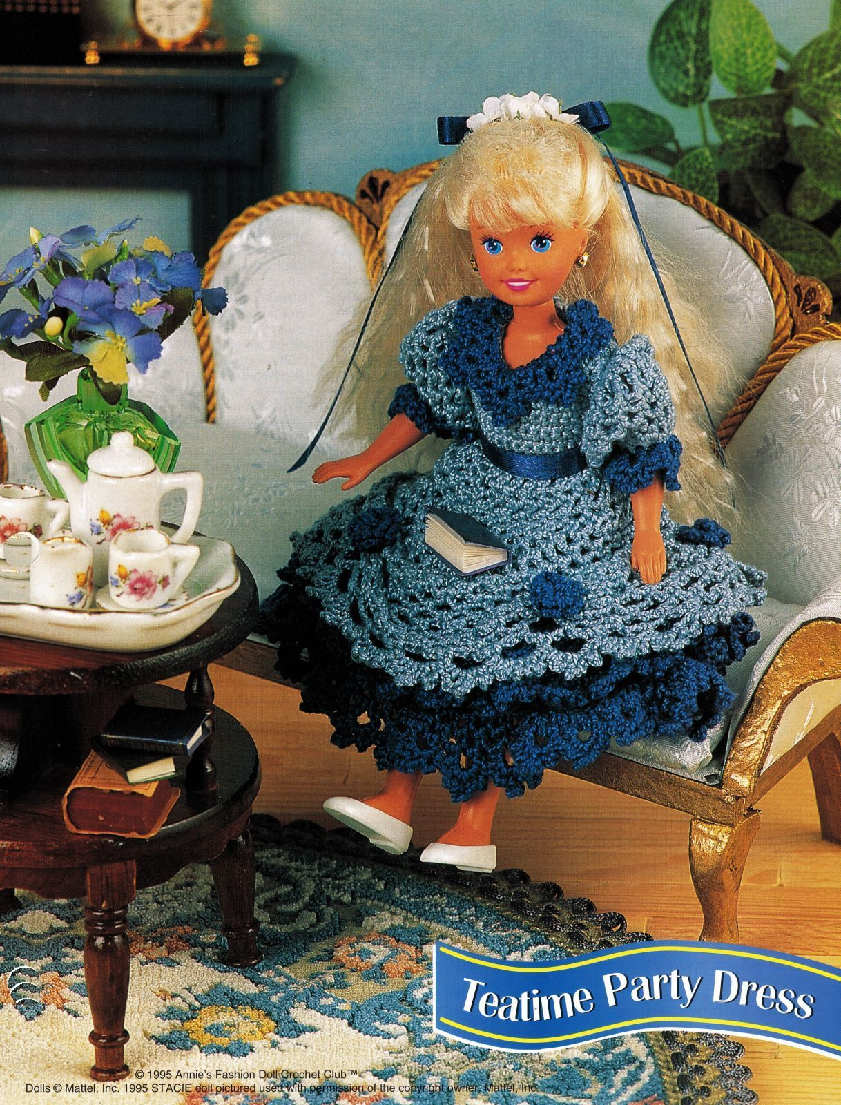 "Primary image for 7-1/2"" Fashion Doll Beach Playtime Summer Teatime Slumber Party Crochet Pattern"