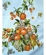 FuN Vintage Fruit Basket Graphic Tablecloth Orange Avocado Fall Colors  ... - $24.00
