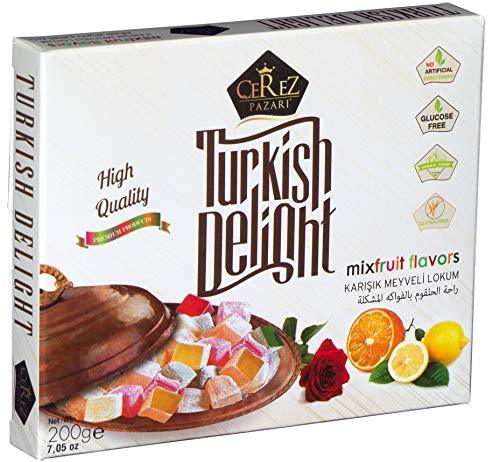 Turkish Delight with Fantastic Rose,Orange and Lemon Mix Flavors No Nuts Luxury