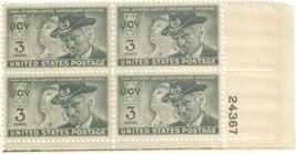 1951 United Confederate Veterans Plate Block of 4 US Stamps Catalog 998 MNH