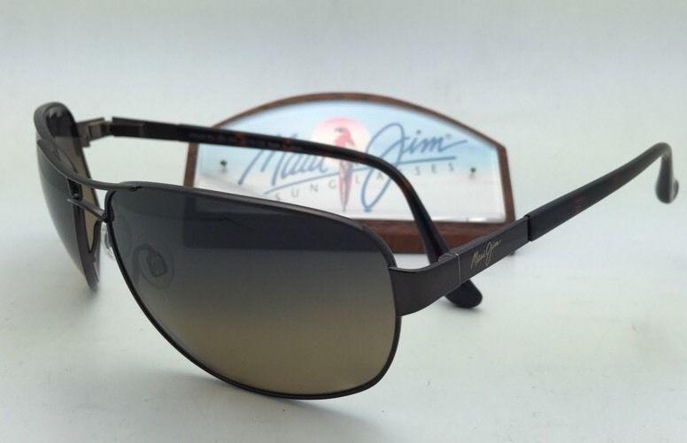 Polarized MAUI JIM Sunglasses SAND ISLAND MJ 253-25A Dark Brown w/ HCL Bronze