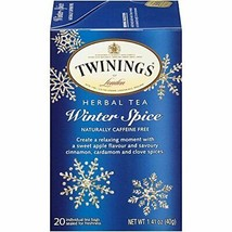 Twinings of London Winter Spice Herbal Tea (20 Count (Pack of 6)|Winter ... - $30.09
