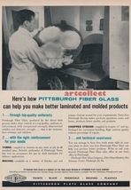 Original Vintage Ad (1957): Pittsburgh Fiber Glass / Minerals & Chemical... - $75.00
