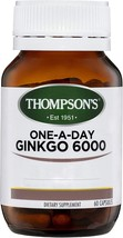 Thompson's One-A-Day Ginkgo 6000mg 60 Capsules - $201.43
