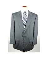 Burberry's Men's size 44L Gray Striped Wool Blazer Sport Coat Jacket - $44.88