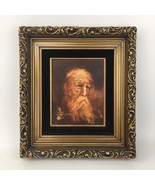 Wallace R Fisher Original Oil Painting Portrait Old Sage Old Man Sepia V... - $10,922.94