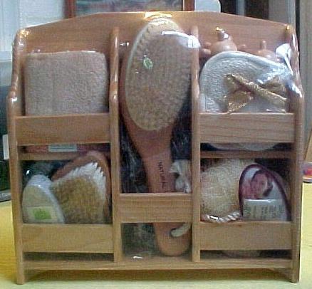 Wooden Basket Gift Set