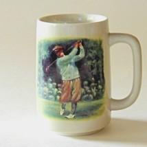 Vintage Otagiri Golf Mug Figi Graphics Japan - $24.74
