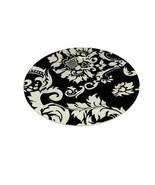 "Home Target Black & White DAMASK Stoneware Salad Plate 8""D - $12.86"