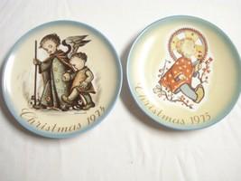 "Schmid Hummel Christmas 1974 and 1975 Christmas Collector Plates 7 3/4"" Diameter - $14.99"