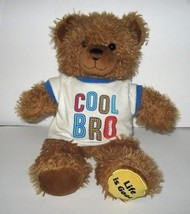 Build A Bear Life Is Good Brown Teddy Bear Shaggy Cool Bro T-Shirt Plush... - $19.59