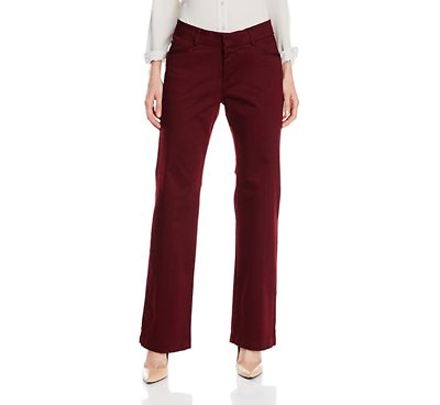 Lee Platinum Women's Madelyn Natural-Fit Trousers, Mulberry NWOT 8 Short