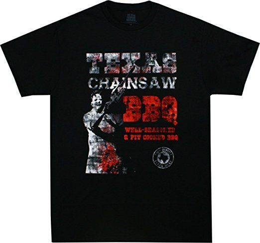 Leatherface BBQ Texas Chainsaw Massacre Movie Horror Halloween Adult T Shirt for sale  USA