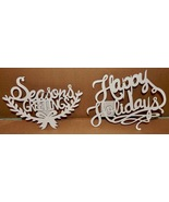 """Christmas Wooden Ornaments You Craft Handmade Holiday's 8 1/2"""" x 7"""" x 1/... - $6.49"""