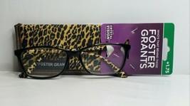 Foster Grant Tara Brown Women's +1.75  Reading Glasses Leopard Spots w/ ... - $9.75