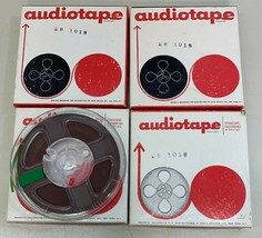"Lot of 4 Audiotape Recording Tape on 4"" Reel In Boxes Recorded Music - $19.79"