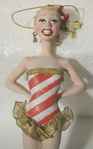 Candy Cane Striped Dancing Girl 8 Inch Christmas Ornament RK0013 image 4
