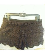 Pins and Needles Womens Cotton Lace Side Zip Mini Short Shorts Black Size 2 - $5.00