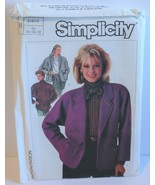 Simplicity Sewing Pattern 7089 Misses Jacket Sizes 6 8 10 Vintage - $8.99