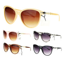 Womens Metal Chain Temple Oversize Butterfly Diva Sunglasses - £7.13 GBP