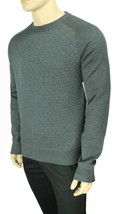 New Tommy Hilfiger Crew Neck Vintage Fit Grey Quilted Pullover Sweater S $99 - $34.99
