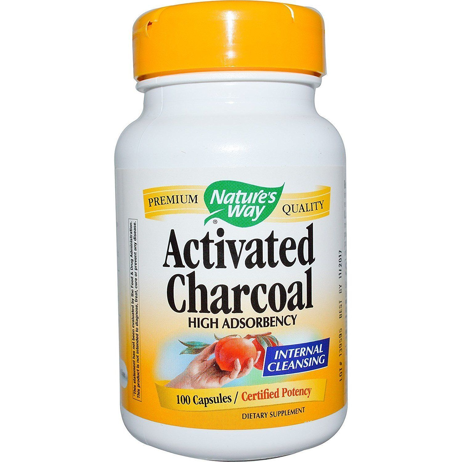 Nature's Way Activated Charcoal, 100 Capsules [New Sealed]