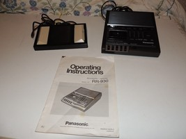 Panasonic RR930 microcassette transcriber Works (Pedal included but not ... - $42.93