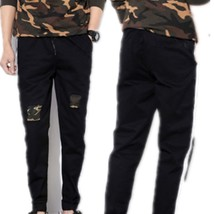 2018 New Hole Camouflage Patch Casual Pants Men Size Nine Pants Pants Me... - $38.76