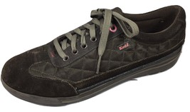 Keds Sneakers 8.5M Womens Shoes Brown Quilted Suede Lace Up Casual Comfort - $19.80