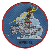 """NAVY VPB-13 PATROL BOMBER SQUADRON WII 4.5"""" EMBROIDERED MILITARY PATCH - $17.14"""