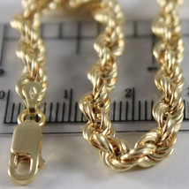Braided Rope Chain 18k Yellow Gold, Length 50 or 60 cm, thickness 5 MM image 2