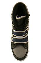 Public Royalty Black Blue Zaq High Top Denim Sneaker Shoes NIB image 6