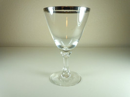 Fostoria Wedding Ring Water Goblet - $13.14