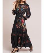 Anthropologie Farm Rio Smocked Floral Dress $198 Sz XXS - NWT - $117.80