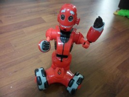WowWee 9 Inch  Red Mini Tri-bot .moves straight and in circles. eyes lig... - $12.87