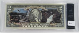 Yellowstone National Park Colorized $2 Note Authenticated UNC PC-22 - $18.32