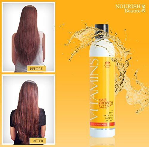 Nourish Beaute Vitamins Hair Growth Shampoo - For Thinning Hair Regrowth and Thi