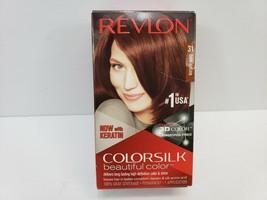 Revlon ColorSilk Beautiful Color 31 Dark Auburn Hair Dye Brand New Sealed - $2.75