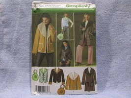 Simplicity Pattern 4356 Sizes 14-22 Misses Miss Petite Coat Jackets Vest... - $9.41