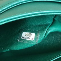AUTH Chanel 2018 TURQUOISE GREEN LAMBSKIN MEDIUM DOUBLE FLAP BAG SHW image 9
