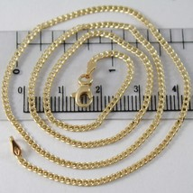 Yellow gold chain 750 18k, 45 cm, mini bangle, groumette, diameter 1.5 mm - $319.89