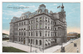 Custom House Post Office Louisville Kentucky 1910c postcard - $5.94