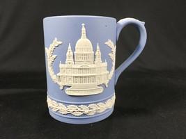 Vintage Wedgwood Blue Jasperware Christmas 1972 Tankard Mug St Paul's Ca... - $24.99